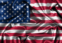 Satin flag, three dimensional render, flag of the United States