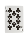 Playing card (ten) isolated on a white background