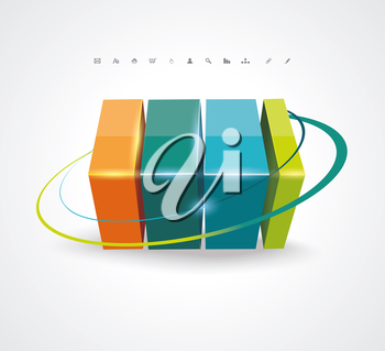 Abstract 3D glossy icon