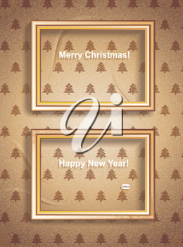 Vector Vintage Merry Christmas Frames. Easy to edit. Perfect for invitations or announcements.