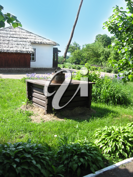 image of artesian well in Ukrainian village