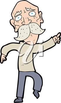 Royalty Free Clipart Image of an Old Man