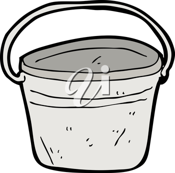 Royalty Free Clipart Image of a Bucket