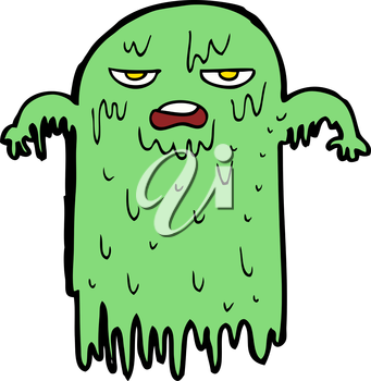 Royalty Free Clipart Image of a Slimy Ghost