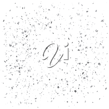 Gray Particles Background. Gray Confetti Isolated on White Background