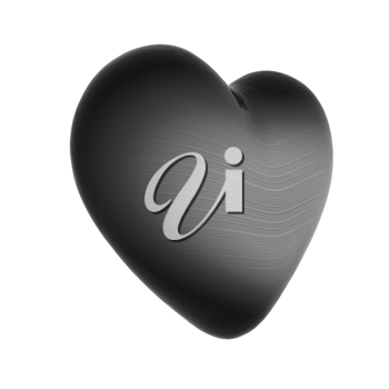 3d beautiful glossy heart on a white background