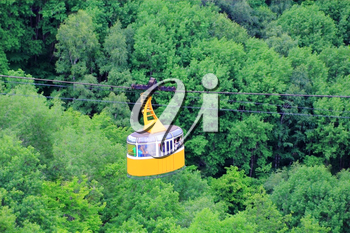 Image of funicular in Caucasus mountains