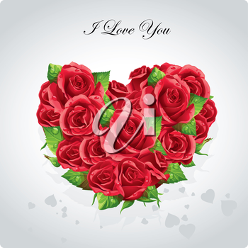 Royalty Free Clipart Image of an I Love You Background
