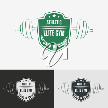 Athletic gym logo concept.  Symbol for sport athletic club, vector illustration.