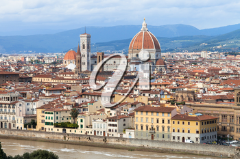 travel to Italy - skyline of Florence city with Cathedral from Piazzale Michelangelo