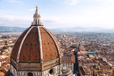 travel to Italy - above view of Duomo and Florence town from Campanile
