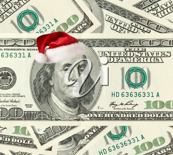 Dollar Santa - Christmas shopping concept.