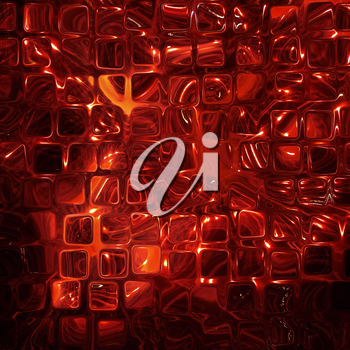Abstract Futuristic background made from red transparent cubes.Digitally generated image.