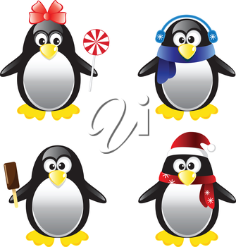 Penguin Vector Illustration Set