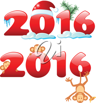 Happy new year 2016. Year Of The Monkey