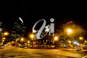 Minneapolis City Photo downtown skyline Minnesota Midwest night Photograph