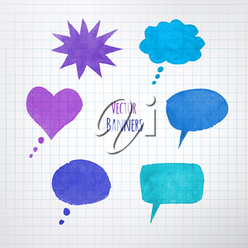 Colorful speech bubbles. Vector EPS 10. Isolated.