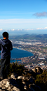 blur in south africa cape town panoramic   from table mountain   tree nature and cloud