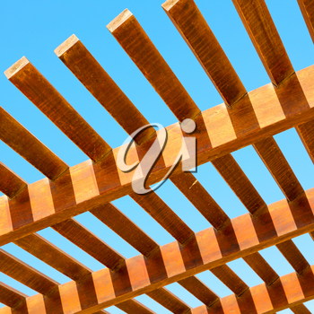 in oman the wooden abstract roof near sky background