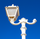 sky and abstract background in oman old streetlamp in the clear