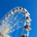 in south africa close up of the blur ferris weel  texture background and sky