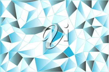 Icy low poly polygonal triangular icy abstract background. Vector illustration