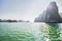 Halong Bay, Vietnam. Unesco World Heritage Site. Most popular place in Vietnam. this landscape you can seen from the island Titop