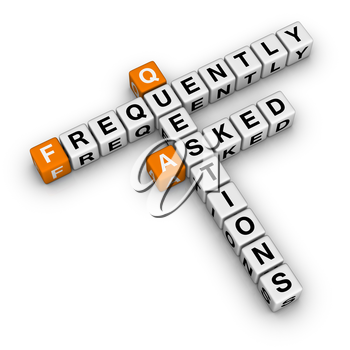 Frequently Asked Questions   (3D crossword orange series)