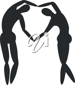 Vector. Couple silhouette 02