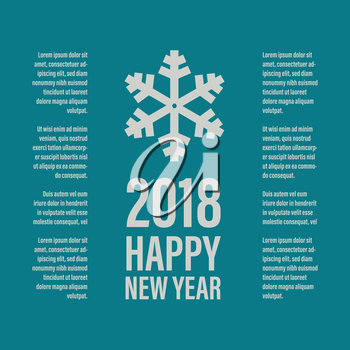 Happy New Year banner in a vintage style on a emerald green background