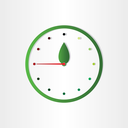 eco clock concept time for ecology abstract design element