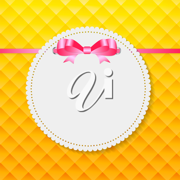 Vintage Frame with Bow  Background. Vector Illustration. EPS10