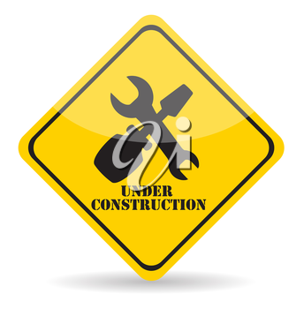 Under Construction. Isolated on White Background. Vector Illustration. Eps10