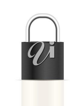 Realistic Lock Sign Vector Illustration. Isolated. EPS10