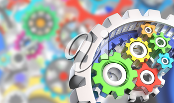 Mechanism of various colorful gears
