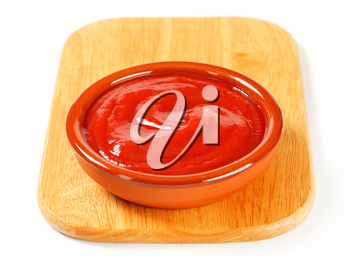 Bowl of smooth tomato puree
