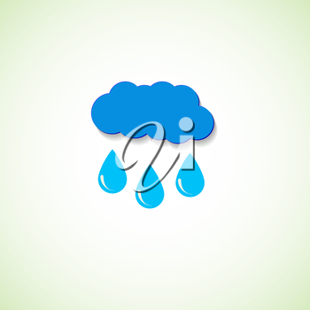 Vector cloud and raindrops eps.
