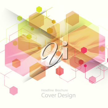 Abstract hexagon background technology. Vector illustration for your ideas.