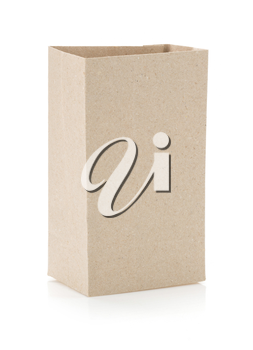 paper bag isolated on white background