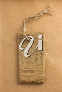 price tag label at paper textured background