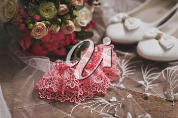 The decoration of the bride to the wedding.
