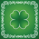 Clover leaf and ornamental element background for happy St. Patricks Day