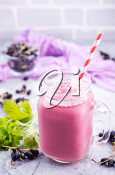 smoothie with yogurt and currant, stock photo