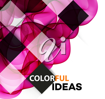 Vector Abstract color curved lines background. Brochure design