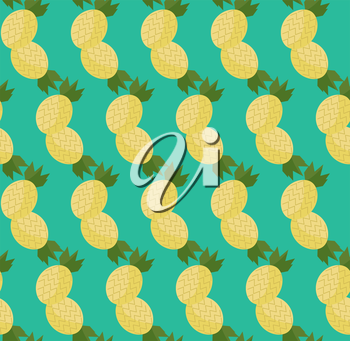 Royalty Free Clipart Image of a Pineapple Background