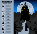 Halloween infographic template. Flat icons. Vector illustration