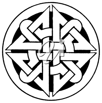 Royalty Free Clipart Image of a Celtic Medallion