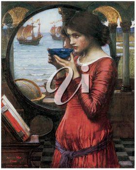 Royalty Free Clipart Image of Destiny by John William Waterhouse