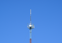 Mast tower relay Internet signals and telephone signals.