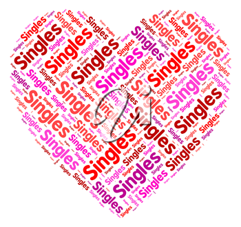 Singles Heart Indicating Compassion Valentine And Romance